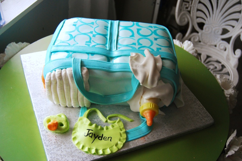 Baby Shower Cakes Diaper Bag