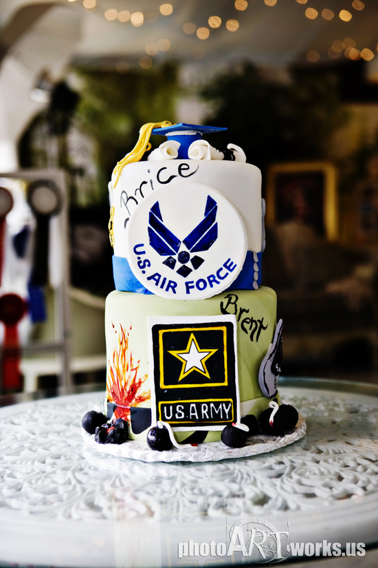 Army/Air Force Grad cake