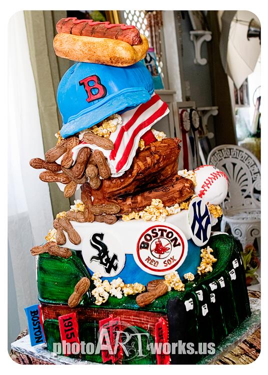 3D Boardwalk and Baseball Cake